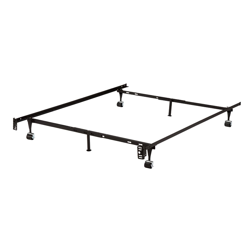 K & B B9001 Iron Steel 1.25-inch Bed Frame With 2-piece C...
