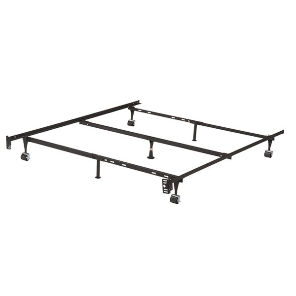 Shop K B B9003 1 25 Inch Iron Steel Bed Frame With Center Support