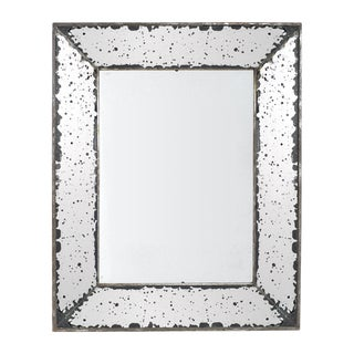 Antique Silver Glass Mirror Tray
