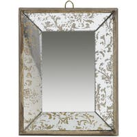 Gold Glass Tray Mirror - A
