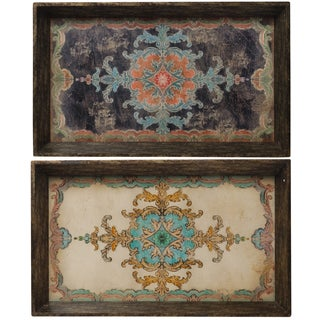 Set of 2 Decorative Trays