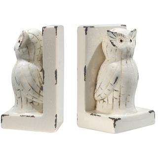 Porcelain Owl Bookends
