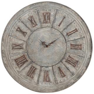 Antique Silver Metal Clock