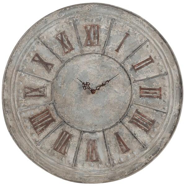 The Gray Barn Antique Silver Metal Clock