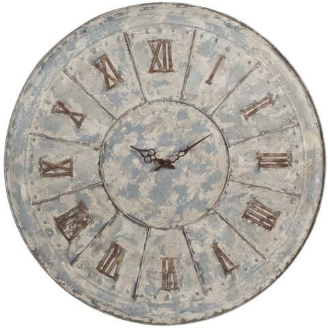 Metal Roman Numerals Accent Clock