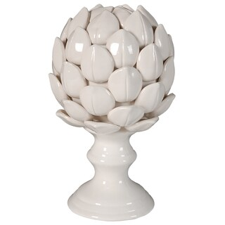 Albinia Off-white Porcelain Large Artichoke