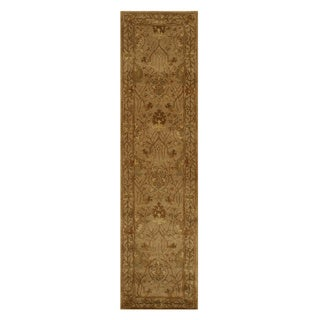 Hand-tufted Wool Beige Traditional Oriental Morris Rug (2'6 x 10')