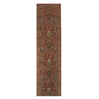 Hand-tufted Wool Rust Traditional Oriental Morris Rug - 2'6 x 10'
