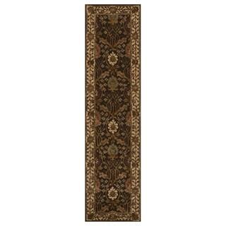 Hand-tufted Wool Brown Traditional Oriental Morris Rug - 2'6 x 10'