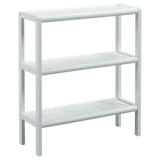 New Ridge Home Abingdon White Solid Birch Wood 3-shelf Console/ Shoe Rack