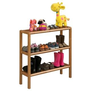 New Ridge Home Abingdon Cinnamon Solid Birch Wood 3-shelf Console/ Shoe Rack