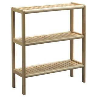 New Ridge Home Abingdon Blonde Solid Birch Wood 3-shelf Console/ Shoe Rack