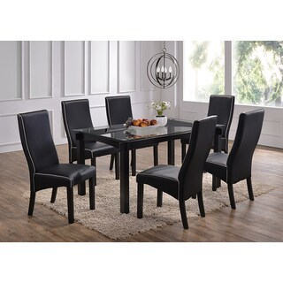 Rectangle Cappucino Wood and Glass Dinette Table
