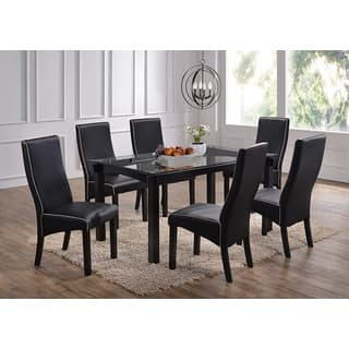 Rectangle Cappucino Wood and Glass Dinette Table. Glass  Rectangle Dining Room   Kitchen Tables For Less   Overstock com