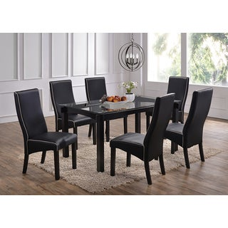 Rectangle Cappucino Wood And Glass Dinette Table   Cappuccino