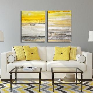 Ready2HangArt Norman Wyatt Jr. 'New Sunset I/II' 2-piece Gallery-Wrapped Canvas Set