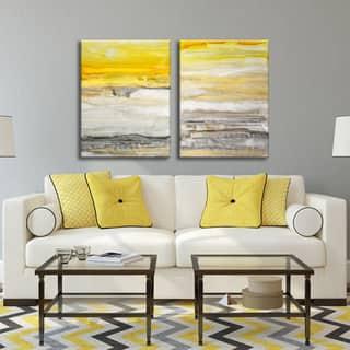 Ready2HangArt Norman Wyatt Jr. 'New Sunset I/II' 2-piece Gallery-Wrapped Canvas Set|https://ak1.ostkcdn.com/images/products/11763529/P18677420.jpg?impolicy=medium