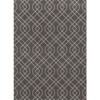 Modern Trellis Design Grey Area Rug (7'10 x 10'2) - 7'10 x 10'2