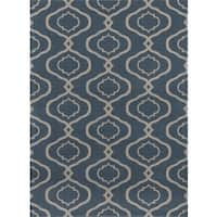 "Moraccan Trellis Modern Blue Area Rug (7'10 x 10'2) - 7'10"" x 10'2"""