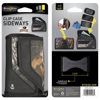 Nite Ize CCSL-03-22 Large Mossy Oak Sideways Clip Phone Case