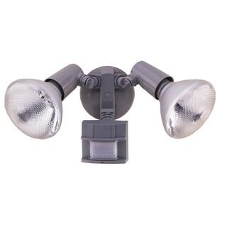 Heathco HZ-5411-GR 120 Watt Grey DualBrite 2-Level Motion Flood Light 2-count