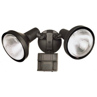 Heath Zenith Bronze Metal Floodlight Motion-Sensing PAR 38 120 volts 300 watts