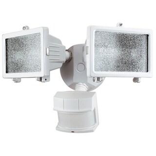 Heathco HZ-5512-WH 300W White Quartz Halogen Motion Sensing Twin Security Light
