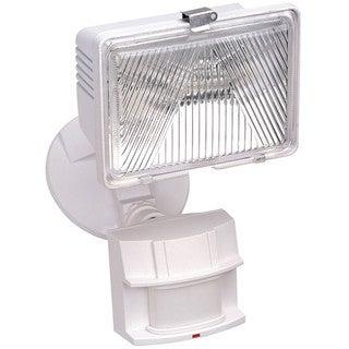 Heathco HZ-5525-WH 1 Bulb 250 Watt White Halogen Motion Flood Light