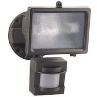Heath Zenith  Bronze  Metal  Security Spotlight  Motion-Sensing  Halogen  150 watts