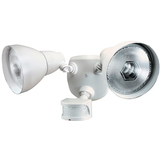 Heath Zenith  White  Metal  Security Light  Motion-Sensing  PAR 38  120 watts