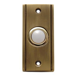Thomas & Betts DH1631L Carlon Antique Finish Wired Brass Push Button