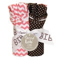 Trend Lab Nursery Baby Cocoa Coral 4 Pack Bib Set