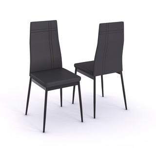 K&B Set of 2 Grey Side Chairs
