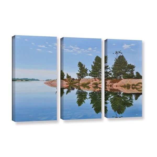 Ken Kirsh's 'Philip Edward Island' 3-piece Gallery Wrapped Canvas Set