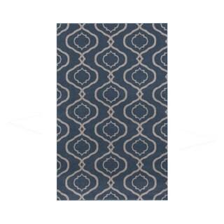 Moroccan Trellis Modern Blue Area Rug (3'3 x 5'3)