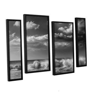 Chris Tuff's 'Breaking Wave 1' 4-piece Floater Framed Canvas Staggered Set