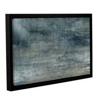 Chris Tuff's 'Cyan Sea' Gallery Wrapped Floater-framed Canvas