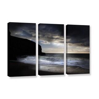 Chris Tuff's 'Dark Light 2' 3-piece Gallery Wrapped Canvas Set