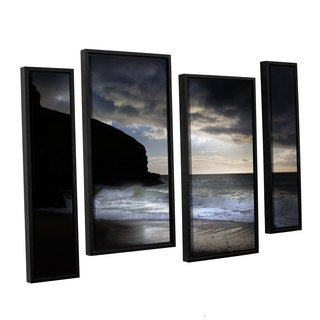 Chris Tuff's 'Dark Light 2' 4-piece Floater Framed Canvas Staggered Set