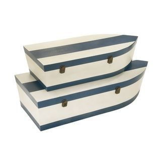 Sturdy Wood Boat Trunks (Set of 3)