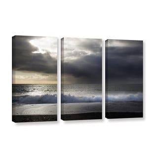 Chris Tuff's 'Dark Light 3' 3-piece Gallery Wrapped Canvas Set