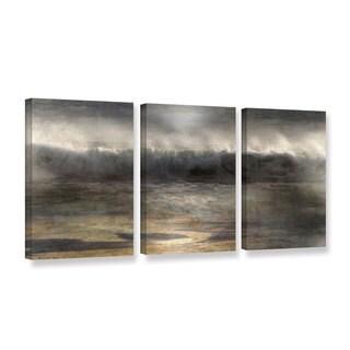 Chris Tuff's 'Moonlit Wave' 3-piece Gallery Wrapped Canvas Set