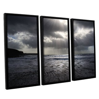 Chris Tuff's 'Poldhu' 3-piece Floater Framed Canvas Set