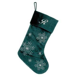 Green Velvet Personalized Stocking