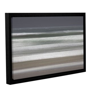Chris Tuff's 'Shore Lines 9' Gallery Wrapped Floater-framed Canvas