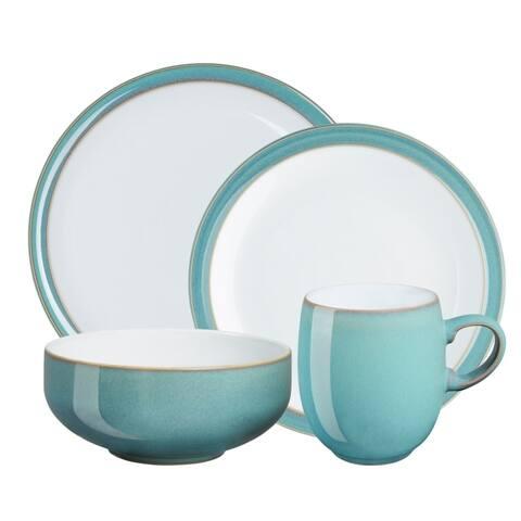 Denby Azure Stoneware 16-piece Dinnerware Set