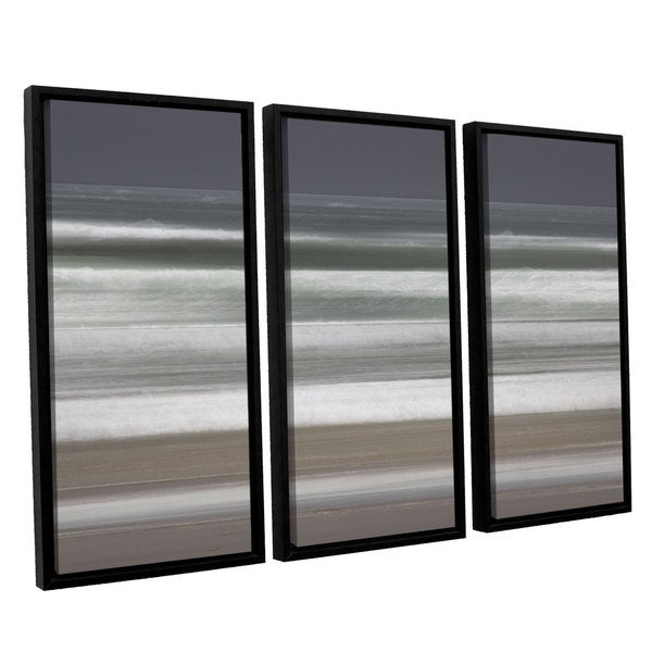 Chris Tuff's 'Shore Lines 9' 3-piece Floater Framed Canvas Set