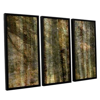 Chris Tuff's 'Wood For The Trees' 3-piece Floater Framed Canvas Set