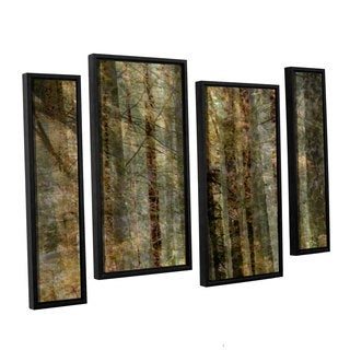 Chris Tuff's 'Wood For The Trees' 4-piece Floater Framed Canvas Staggered Set