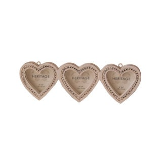 The Urban Port Brand Gorgeous Set of 3 Heart Shape Photo Frame